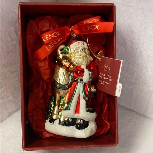 Lenox Vintage Old World Santa and Reindeer